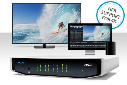 AJA Io 4K Gains 50/60 fps 4K/UHD High Frame Rate Support with v10.5.1 Software