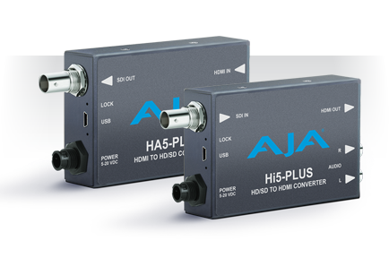 AJA Launches New Hi5-Plus and HA5-Plus Mini-Converters at NAB 2014