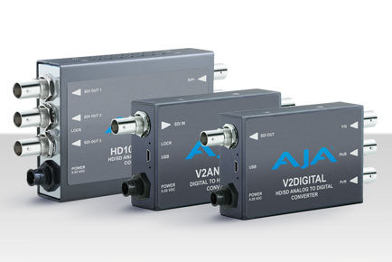 AJA Releases New Mini-Converters at 2013 IBC
