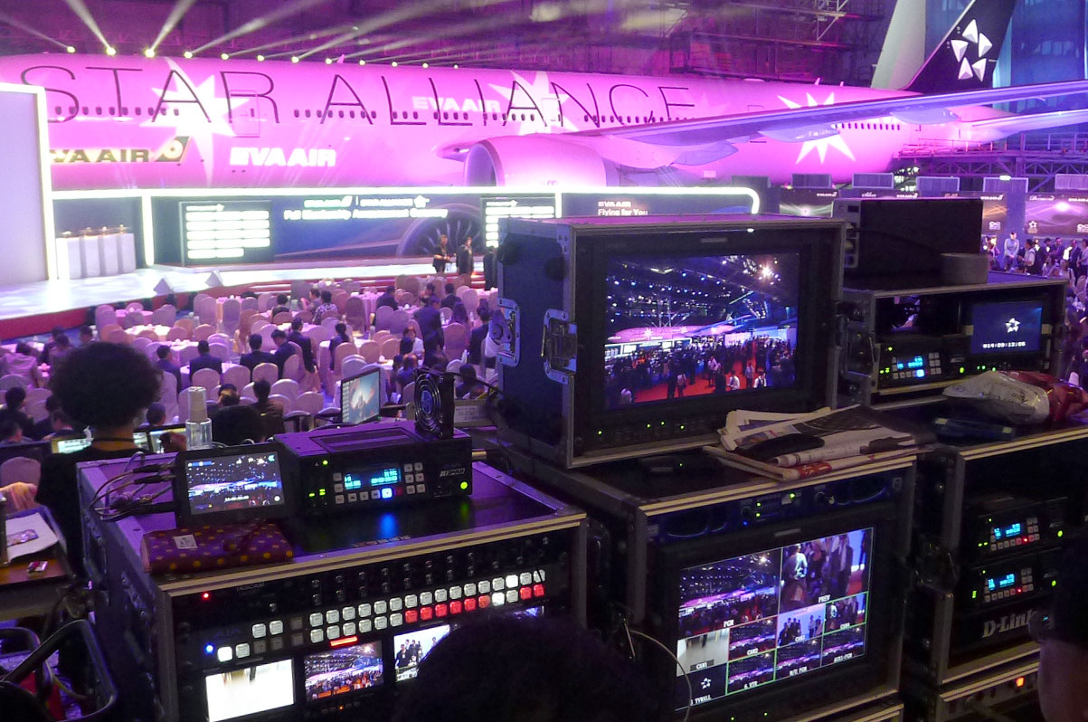 Kings Communication Rolls Out AJA Gear  for Live Production on EVA Airline Event
