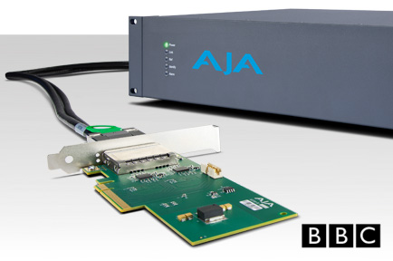 BBC R&D Uses AJA Corvid Ultra in Test Pilot to Deliver UHD TV Over the Internet